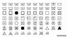 wasch symbole bedeutung quot laundry symbols quot fichier vectoriel libre de droits sur la