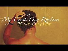 my 3c 4a curly wash day routine youtube