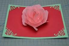 pop up card template s day flower pop up card tutorial creative pop up cards