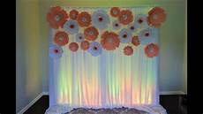 paper flower backdrop diy bridal shower youtube