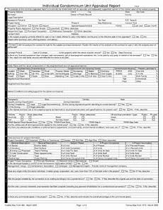 individual condominium unit appraisal report freddie mac fill online printable fillable
