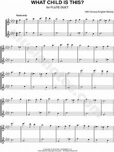 traditional english folk song quot what child is this flute duet quot sheet music in f minor