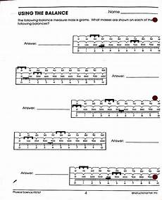reading triple beam balance worksheet worksheets sles