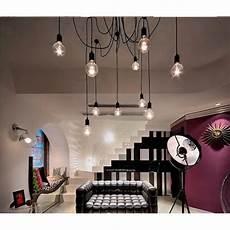 12 E27 Retro Vintage Loft Lustre Plafond Luminaires