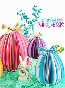 stand up paper eggs easter easy easter crafts easter