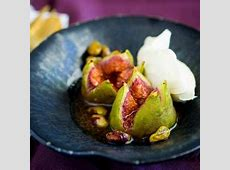 Roasted Pears with Brown Sugar and Vanilla Ice Cream image