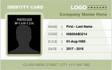 employee id card template free excel employee identification card templates ms word word