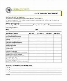 free 7 environmental assessment form sles in sle exle format