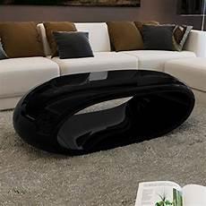 vidaxl couchtisch fiberglas hochglanz hohldesign schwarz