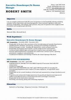 executive housekeeper resume sles qwikresume