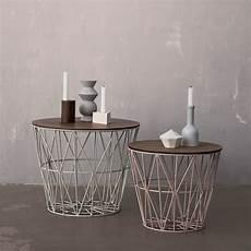 drahtkorb als tisch ferm living wire basket medium im shop