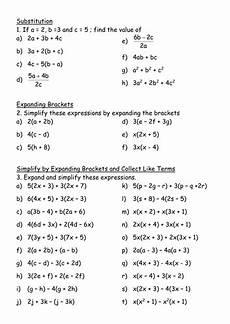maths ks3 worksheet simplifying brackets teaching resources