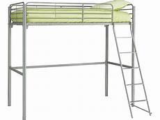lit mezzanine metal lit mezzanine 90 cm en m 233 tal new line 3 coloris gris
