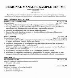 sales manager description for resume