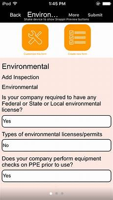 and gas environmental inspection app