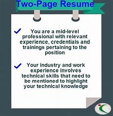cv length how many pages should a resume cv be