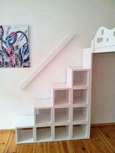 Hochbett Hochetage Mit Treppenregal Escaleras De