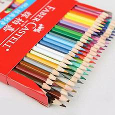 48 colors faber castell coloured pencils drawing set brush