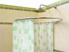 duschvorhangstange rund alu rund stange silber 216 80cm chrom duschvorhangstange