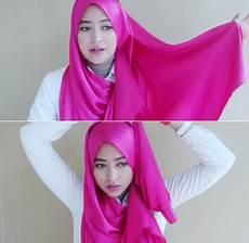 Cara 3 Memakai Jilbab Menutup Dada Dengan Scarf Satin