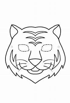 pdf masque tigre en noir et blanc masques et couronnes masque animaux masque de tigre et
