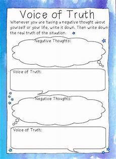 free printable voice of cbt style worksheets for examining negative beliefs about