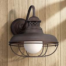 franklin park 16 quot high bronze metal cage outdoor wall light 2t226 ls plus