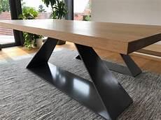 eiche esstisch design esstisch metall eiche massivholz
