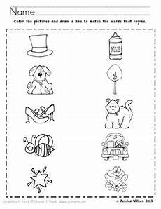 rhyming worksheets for pre kindergarten rhyming worksheet by sparking a love for learning tpt