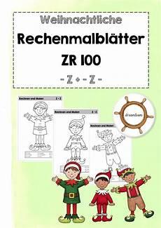 Malvorlagen Grundschule Quiz Rechenmalbl 228 Tter Zr 100 Z Z Unterrichtsmaterial In