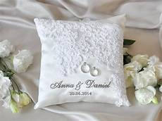 lace wedding pillow vinateg ring bearer by forlovepolkadots