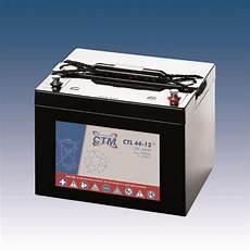 ctm wartungsfreie agm batterie bleiakku ctl44 12 12 volt