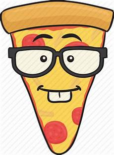 cartoon emoji pizza slice smiley icon