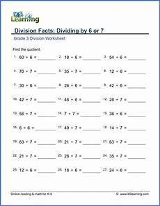 multiplication and division printable worksheets grade 3 6919 grade 3 division worksheet subtraction dividing by 6 or 7 with images division worksheets