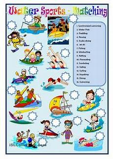 water sports worksheets 15894 sports vocabulary matching worksheet look at the words in the list below and write them