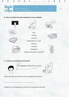 school objects and subjects worksheet sle by