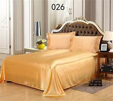 golden tribute silk full queen 1pc sheets flat bed sheet bedsheet bedclothes bedding home