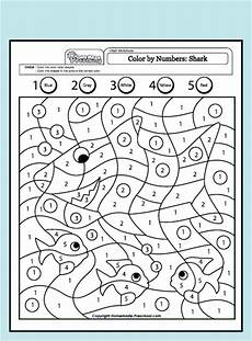 color by number pages worksheet 16276 and interactive preschool worksheets