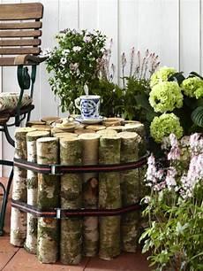 terrassen deko selbst gemacht interessante dekoration f 252 r den garten nesttisch selber