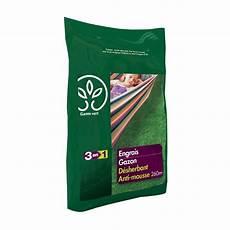 engrais gazon d 233 sherbant anti mousse 8 kg gamm vert sac