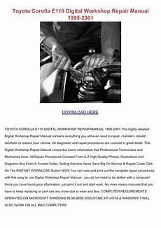 free online car repair manuals download 2012 toyota venza regenerative braking toyota corolla e110 digital workshop repair manual 1995 2001