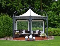 pavillon für garten bo wi outdoor living profi pavillon antica roma sechseckig