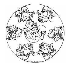 Ausmalbild Frosch Mandala Frosch Mandala Fr 246 Sche Mandalas Tiere