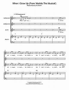 when i grow up from matilda the musical choral ssa sheet music by by tim minchin ssa 116274