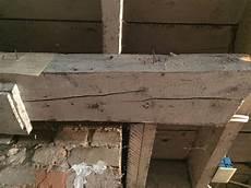 risse in holzbalken basement support beam splitting home improvement stack