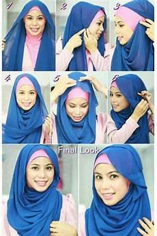 Segi Empat Tutorial With Headband Hijabiworld