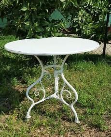 table ronde jardin 10340 table de jardin ronde en m 233 tal fer forg 233 arras diam 232 tre 80 cm