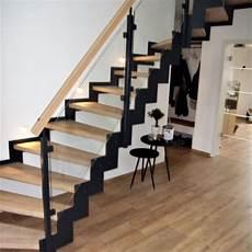 treppe stahl holz stahl holztreppe 1 middendorf
