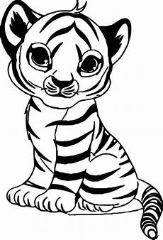 coloring pages of cute tigers tiger color sheet with baby