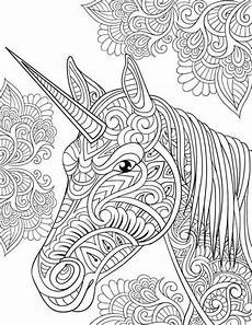Einhorn Ausmalbild Mandala Pin Auf Flowers